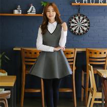 2014春季新款韩国女装太空棉连衣裙 荷叶边修身无袖打底背心短裙 价格:62.00