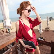包邮贝迪斯bikini泳衣女裙式比基尼小胸聚拢三件套遮肚温泉泳装 价格:105.00