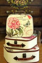 复古田园彩绘手提箱 母子三件套箱包旅行箱 化妆箱/登机箱/收纳箱 价格:67.00