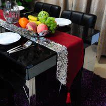 澳而春 银亮片PU皮桌旗 餐桌布艺 茶几旗 餐垫 简约 现代 可定做 价格:88.00