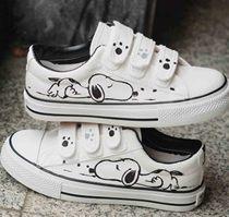 蜡比小星童鞋 男童鞋 女童鞋 亲子鞋手绘儿童帆布鞋白球鞋韩版 潮 价格:56.05
