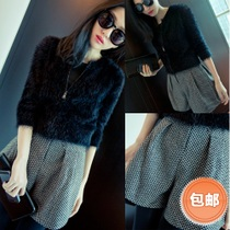 2013秋装新品 欧美时尚大牌毛呢高腰设计收腰 短裤 靴裤#S2 价格:24.46