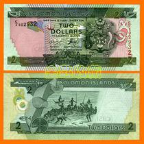 【金匙收藏】大洋洲钱币-所罗门群岛2元 2006年版 国旗版 纸币 价格:7.90