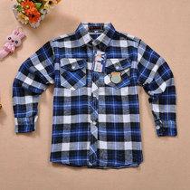 【天天特价】男童中大童纯棉长袖格子衬衫男孩衬衫男格子衬衫英伦 价格:29.00