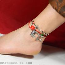 时尚吉祥星默水滴转运脚链女民族手工中国风复古时尚个性 价格:38.80