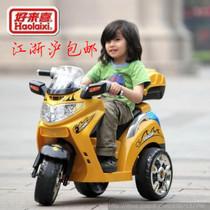 2013新款好来喜SX1128儿童电动摩托车儿童电动车三轮车电玩车童车 价格:298.00