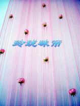 新款玫瑰花苞线帘 1.5米60元 串珠亮片家居隔断 仿水晶亚克力珠帘 价格:60.00