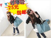 包邮!2013新款韩版休闲纯色帆布包单肩包斜跨包手提包时尚女包包 价格:25.00