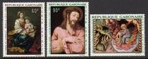 加蓬:1968,宗教绘画,名画外国邮票,3全新【轻贴】 价格:20.00