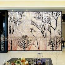 定做艺术玻璃/电视背景墙/深雕/玄关/挪威的森林 价格:888.00