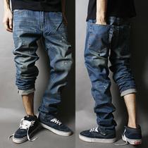 包邮特价2013新款韩版时尚水洗男士牛仔裤男蓝色复古青年牛仔裤子 价格:75.00