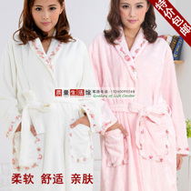 促销特价竹纤维割绒睡袍 女士高贵可爱公主浴袍浴衣秋冬款包邮 价格:139.30