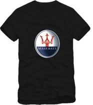 情侣男女玛莎拉蒂车标LOGO车行工作服MASERATI纯棉短袖T恤 价格:28.00