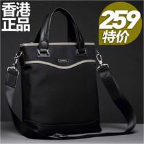 韩版新款手提包 英伦范男士休闲帆布包 ipad单肩包潮流小挎包男包 价格:259.00