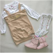 2013新款秋装 儿童裙 美国baby phat毛圈棉女童时尚吊带裙 价格:48.00