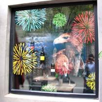 浪漫满屋 烟花盛开的季节窗花贴 店面装饰用品 橱窗玻璃贴纸 单色 价格:31.20
