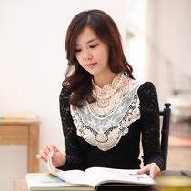 誉跃丽依 蕾丝镂空大码长袖打底衫女装秋装新品韩版蕾丝衫女上衣 价格:96.00