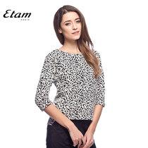 95折 艾格 Etam 春季 黑白落肩圆领衬衫14012810295 价格:255.55