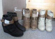 原单好货 修腿型 超美的坡跟皮带扣及裸靴  客供牛巴PU 短靴子 价格:55.10