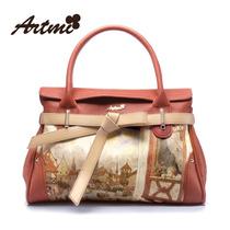 香港Artmi2013春季新款甜美复古油画印花淑女包通勤手提包单肩包 价格:179.00
