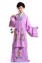 子牛古装 新款紫色女士古装 桃花朵朵戏服 舞台演出服装GZB016 价格:228.00