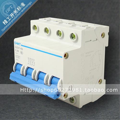 正泰断路器 空气开关 DZ47 4P 25A 正泰空气开关 低压断路器 价格:33.00