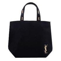 法国奢侈大牌Y圣专柜限量版魅力黑色帆布包单肩包购物袋 价格:38.00