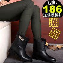 2013欧美春秋新款平底靴 真皮女短靴 英伦平跟马丁靴机车靴女靴子 价格:186.00