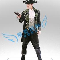 万圣节服装化妆舞会年会派对表演演出加勒比海盗船长绅士风格礼服 价格:99.22