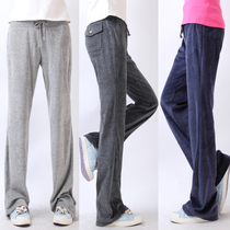 2条包邮秋装新款宽松休闲裤女士天鹅绒运动裤女瑜伽裤胖mm大码 价格:46.00