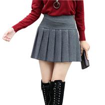 双十二14新款裙子半身裙短裙包臀裙加厚打底裙冬裙毛呢裙百褶裙 价格:40.00