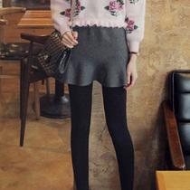 韩国代购2014春装新款百搭弹力优雅荷叶摆半身裙显瘦短裙14aQ2 价格:218.00