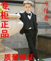 韩版秋装花童礼服男孩表演出儿童西装男童西服中大童黑色9件套装 价格:125.00