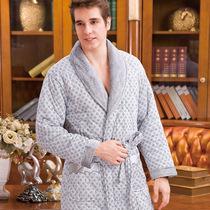 语人冬季加厚睡袍男士睡衣长袖新款加厚棉质夹棉家居服男睡衣睡袍 价格:169.00