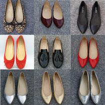 热卖2014新款LALAWS欧版女士真皮尖头 浅口女单鞋软皮平底皮鞋子 价格:136.00