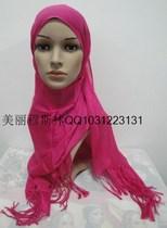 特价人造棉清爽纯色长巾,回族穆斯林女士盖头,头巾 价格:13.00