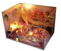 手工diy小屋别墅公主日记 房子模型拼装带灯 浪漫生日礼物 价格:79.00
