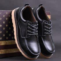 英伦真皮男士休闲皮鞋大头鞋工装鞋 韩版板鞋男鞋子 大码潮鞋 价格:145.00