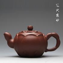紫砂茶壶 紫砂壶 宜兴 正品 精品茶具优质原矿紫砂手工包邮莲藕壶 价格:1780.00