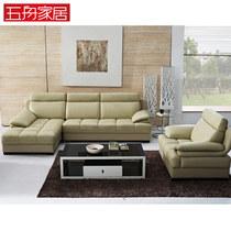 五舟家居 现代真皮沙发头层牛皮  客家具转角皮艺沙发 WS1010 价格:7980.00