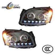 龙鼎丰田RAV4大灯总成 丰田rav4大灯改装LED泪眼双光透镜氙气大灯 价格:1000.00