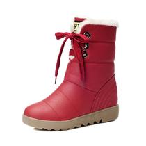 反季特价 冬季保暖棉鞋 厚底防水内增高雪地靴子 女靴 中筒靴 价格:128.00