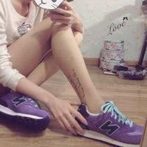 西野7.12新 紫色×薄荷绿N字鞋跑步鞋韩国N 清新运动鞋复古女款 价格:170.00