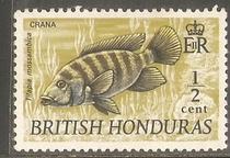 英属洪都拉斯1969年鱼类新 价格:2.00