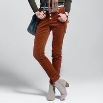 100%专柜●9魅 2013秋口袋小脚型 纯色淑女长裤子[33DY3615]六色 价格:68.00