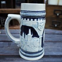 【捷克共和国】德国啤酒杯时尚家居饰品 个性陶瓷工艺品酒吧摆件 价格:65.00