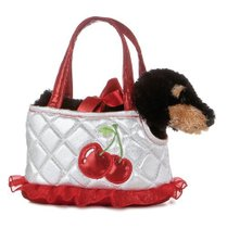 Aurora Plush 6 FancyPal Silver and Cherries Dog Pet Carrier 价格:235.88