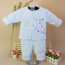 5折包邮!健福宝宝夹衣 全棉宝宝外穿服 立领两件套保暖衣 2096 价格:59.00