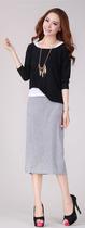 2013秋装新品 假三件欧美风宽松长袖连衣裙 时尚修身显瘦包臀长裙 价格:89.00