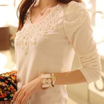 2013新款韩国女装秋装上衣潮秀色燎人修身打底衫女长袖 价格:39.00